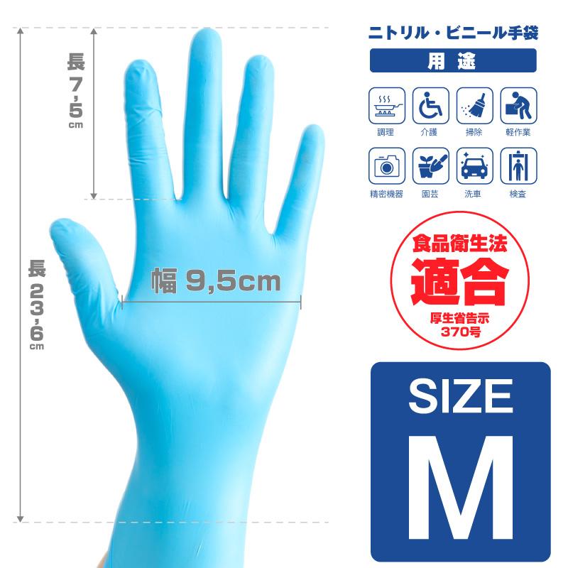 ニトリル手袋 粉なし ラテックスフリー